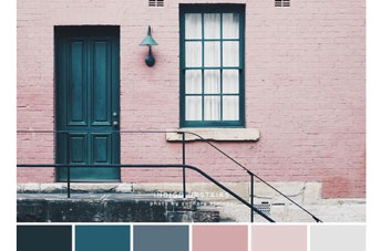 Colour inspiration – pink, grey and green
