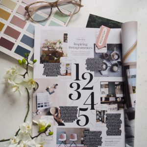 brand coverage in an interior magazine
