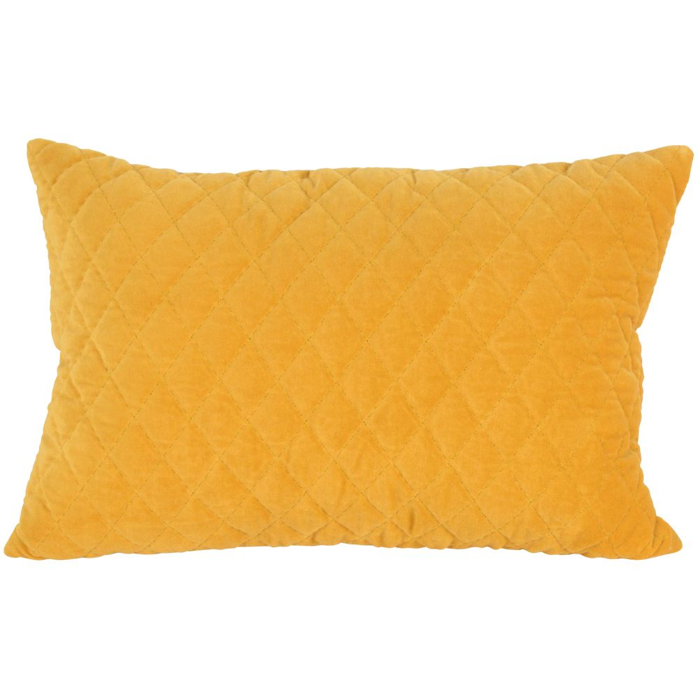 Mustard quilted cushion