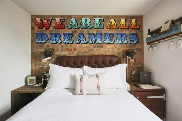 "Art on wall ""We Are All Dreamers"""