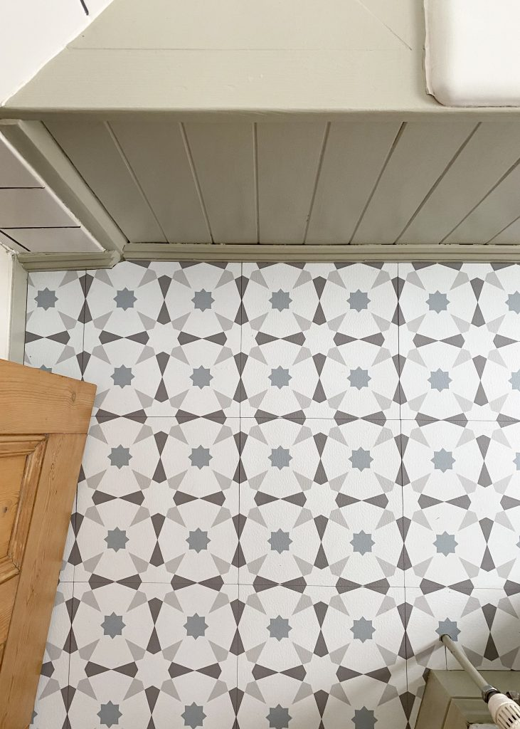 Self-adhesive floor tiles from Dunelm